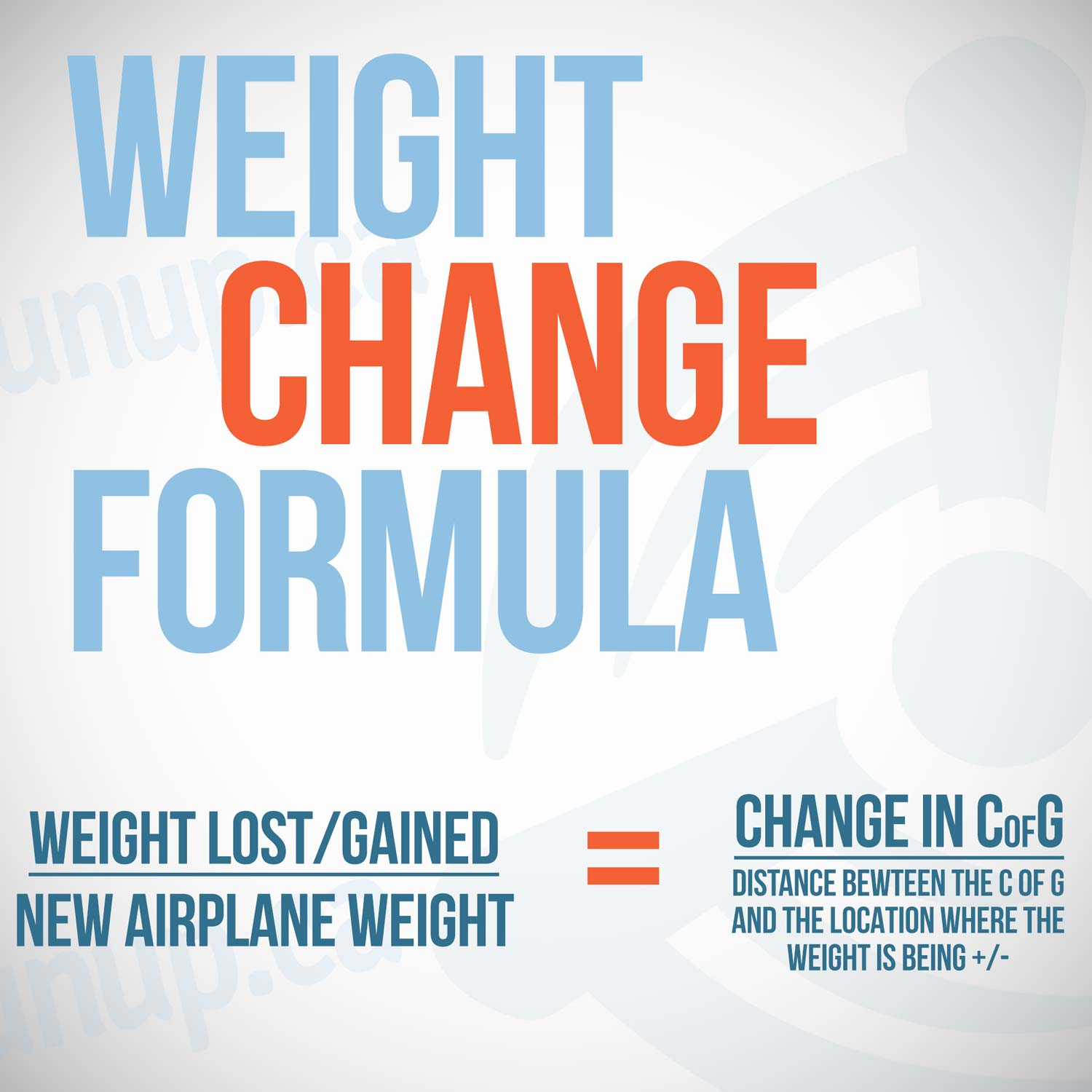 The Weight Change Formula