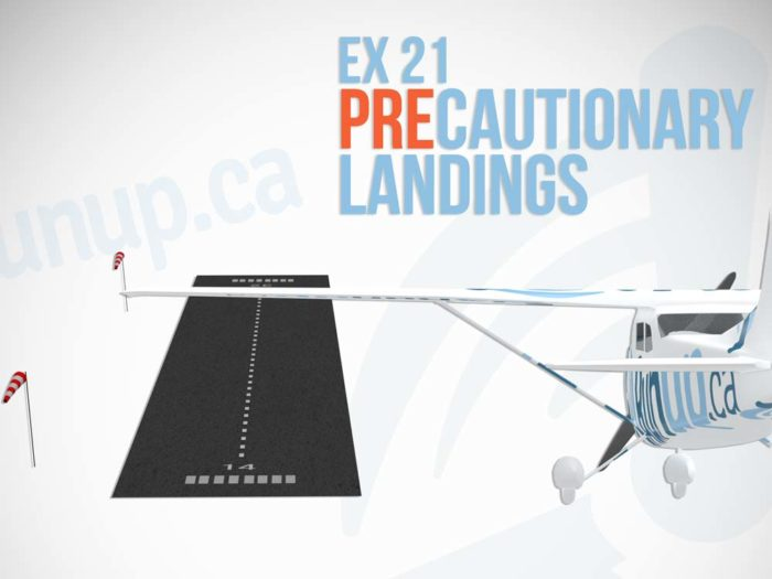 Exercise 21 Precautionary Landings Canadian Student Pilot