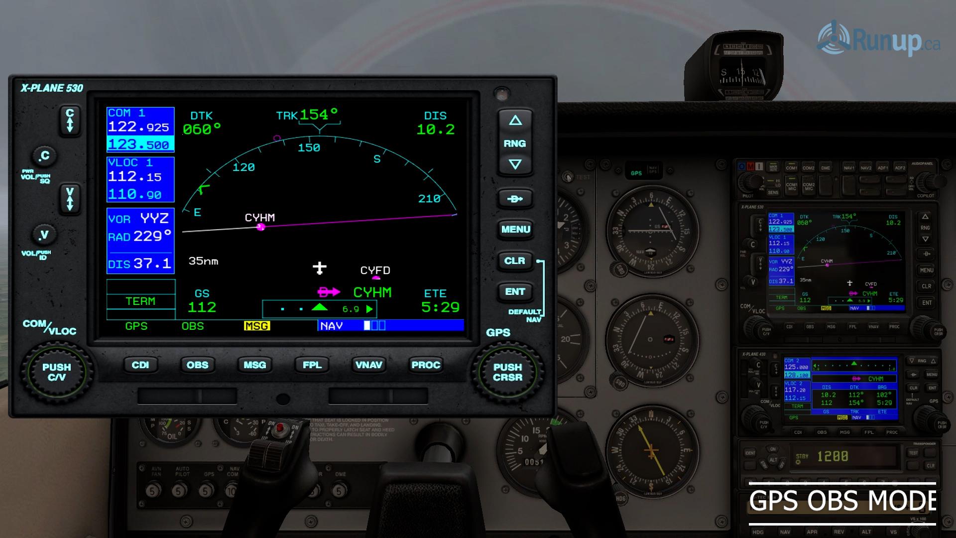 Garmin 530 GPS in OBS Mode