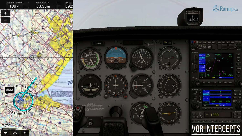 VOR Intercepts Explained Canada Pilot