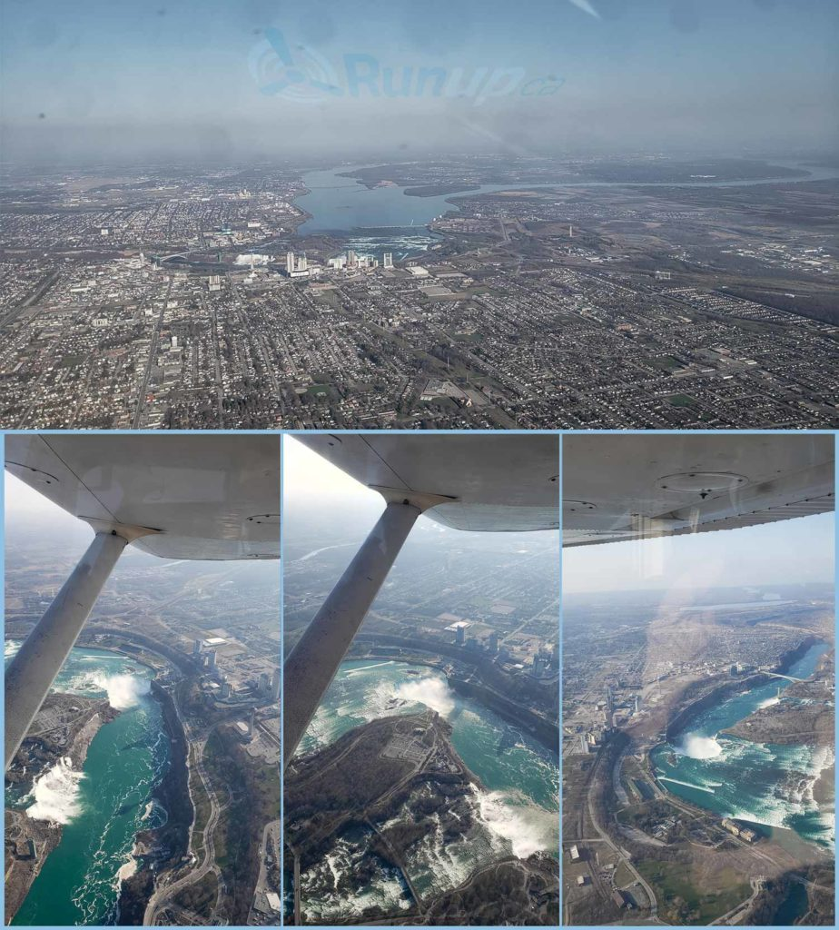 Flying Over Niagara Falls